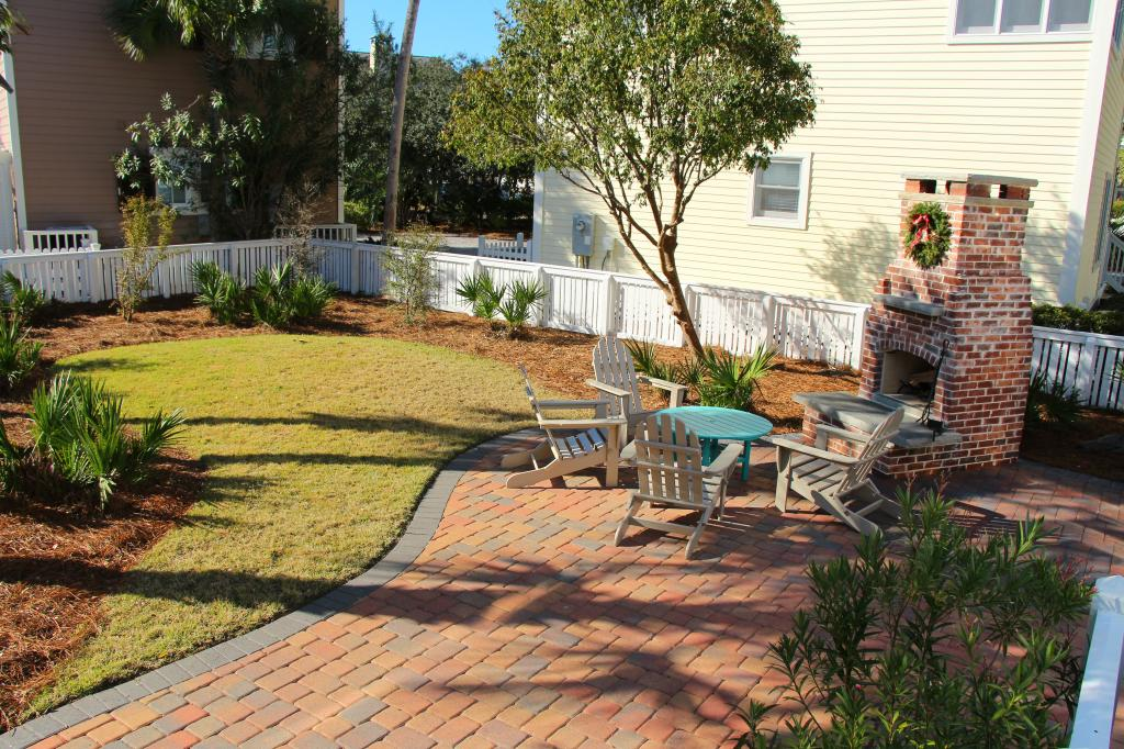 We're proud of our residential estate projects, especially this fireplace and grill setup in the Panama City Beach area