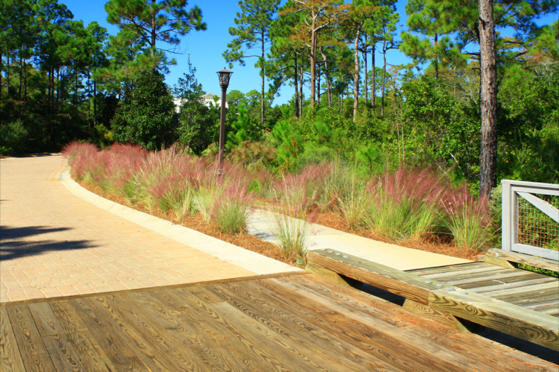 See our meticulous hardscape work on this Panama City Beach pathway