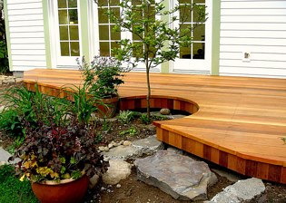 cedar is a popular decking material choice