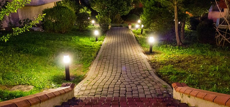 Install commercial path lighting with GreenEarth