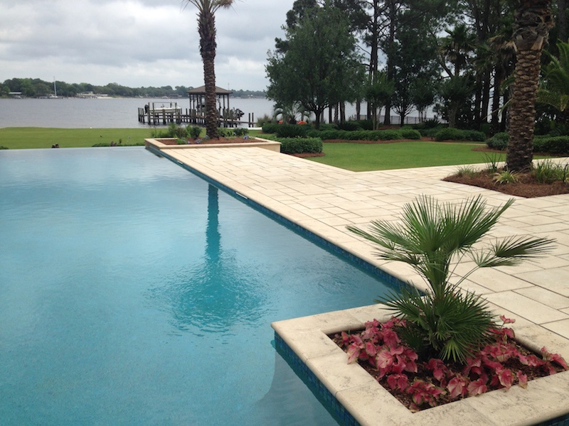 Check out our beautiful stonework on this NWFL pool area