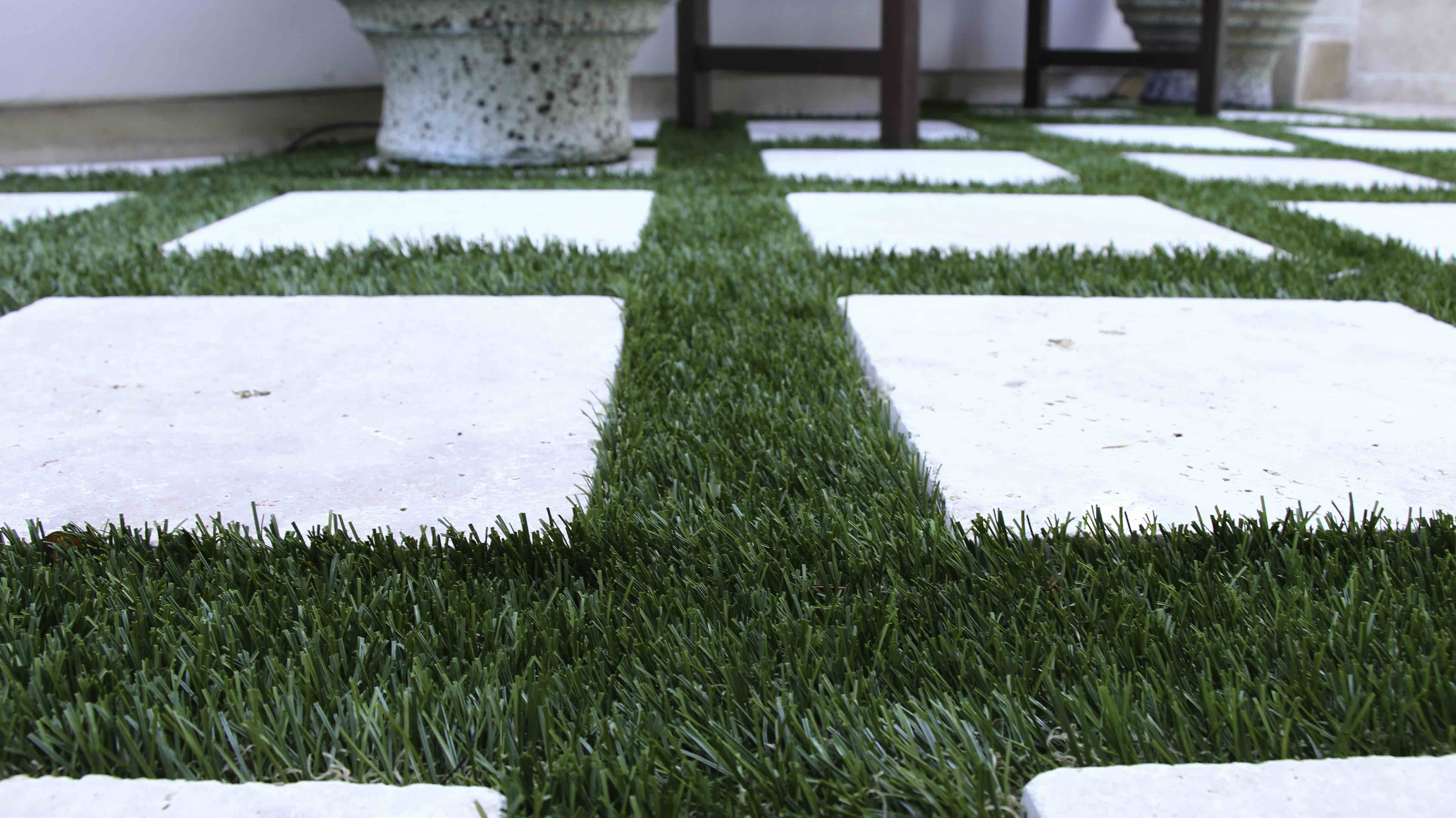 Sick of brown grass? Ask us about professional turf painting services