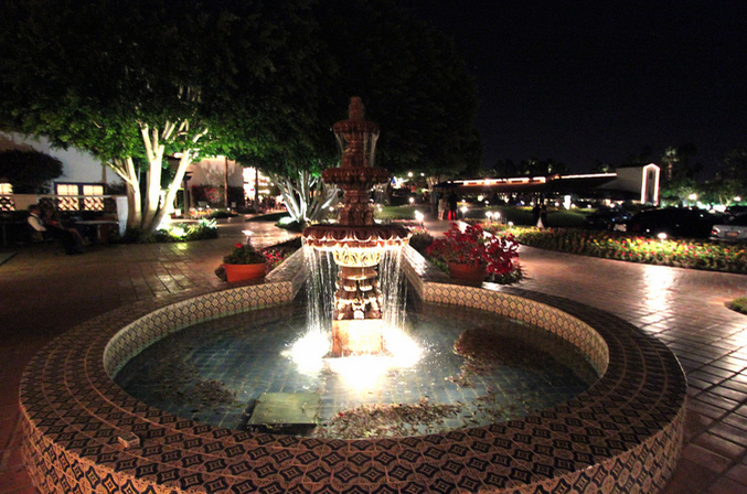 Light your fountain with our highly-revered commercial landscape lighting services